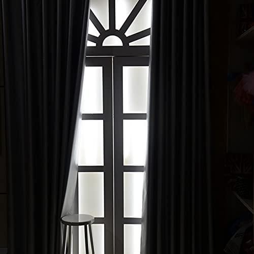 GDMING 100 % mörkläggningsgardiner, svart och silver reflekterande vattentät sommar isoleringsduk med öljetter topp för sovrum vardagsrum, 17 storlekar (färg: Silver, storlek: 1,9 x 2,5 m)