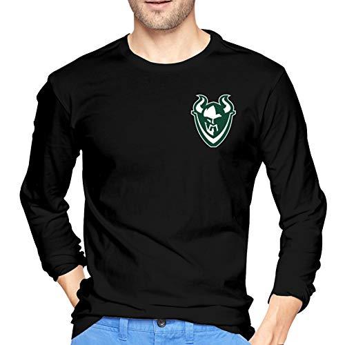 Jumerk P-Ortland State V-Ikings Football Men's Long Sleeve T-Shirts Soft Cotton Crew Neck Top Tee Black New York
