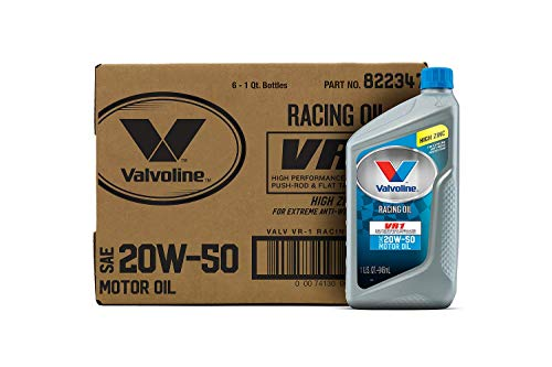 Valvoline - 822347-CS VR1 Racing SAE 20W-50 Motor Oil 1 QT, Case of 6
