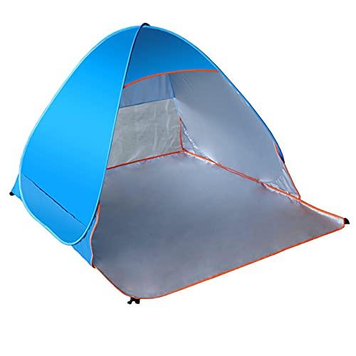 Tienda, Carpa De Una Sola Capa Impermeable Camping Playa Transpirable Para Personas Dobles Carpa Protección UV Diseño Plegable Con Bolsa De Transporte Para Acampar,Azul