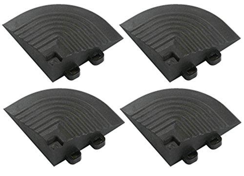 BodenMax Set di 4 Angoli ad Incastro per Piastrelle Componibili BodenMax – Accessori per Piastrelle ad Incastro  Nero 7,5x7,5x2,4cm