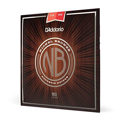 D'Addario Nickel Bronze Acoustic Guitar Strings, Medium, 13-56
