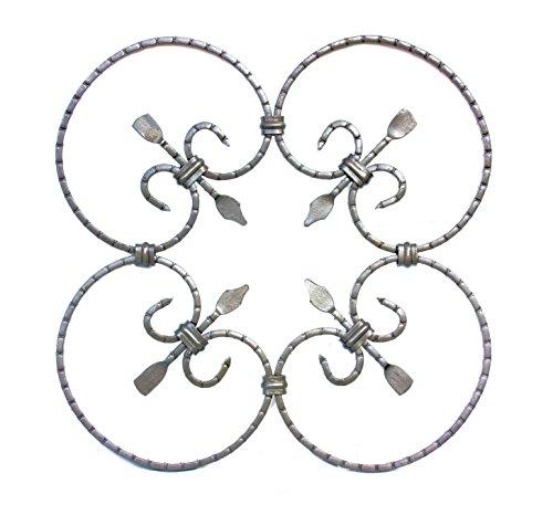 UHRIG ® NEU! Schmiedeeisen Ornament Gitter Fenstergitter Stahl Eisen geschmiedet #552