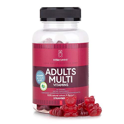 VITAYUMMY Multivitamine für Erwachsene, Vegane Gummibärchen | Vitamin A C D E & B12 | Immunsystem Stärken | Natürliche Aromen, Allergenfrei & Gelatinefrei | 60 Gummy Vitamins, 1 Monat