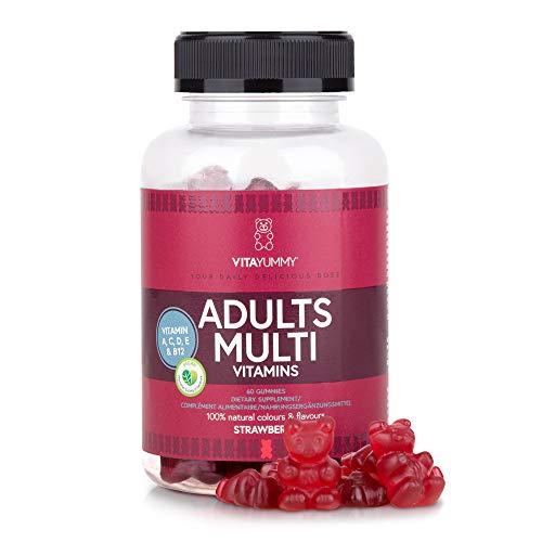 VITAYUMMY Adults Multivitamin Vegetarian Gummies with Natural Flavours, Allergen-Free and Gelatin-Free, Organically Produced in California. 60 Gummies 1 Month Supply