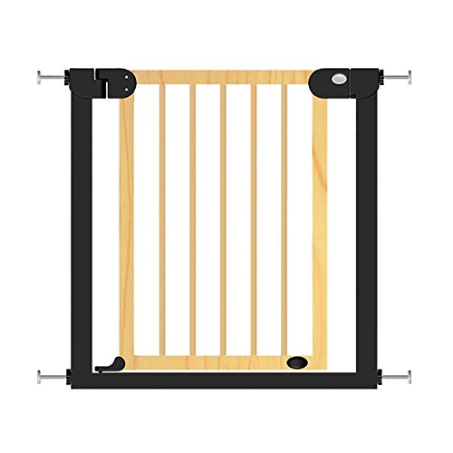 PNFP Baby Gates Tall Baby Gates for traprampe, houten deur voor huisdieren, montage onder druk, met deur voor honden, extra groot, 76-153 cm, hout