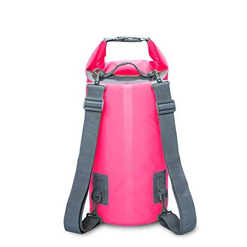 Thumby Boodschappentas, 5 l, 10 l, 15 l, 20 l, waterdicht, voor zwemmen, kanoën, kajak, rafting, sporttassen in de open lucht, reizen 5L Roze