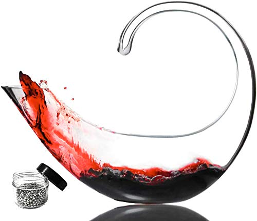 Le Sens Amazing Home Scorpion Wine Decanter 100% Hand Blown Lead free Crystal Glass with Cleaning Beads, Red Wine Carafe, Wine Gift, Wine Accessories