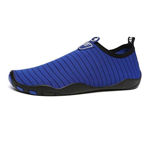 GDSSX 【 Indoor Fitness Laufband Turnschuhe Männer Und Frauen Wasser Schuhe Atmungsaktiv Leichte Schwimmschuhe Strand Weichen Boden Schuhe Yoga Trainingsschuhe 】 (Color : Royal Blue, Size : 35-36)
