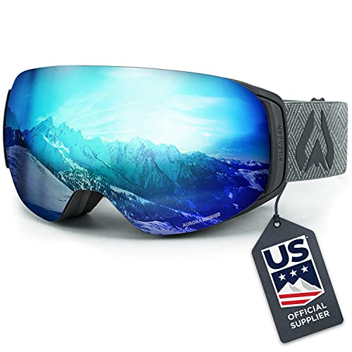 WILDHORN Outfitters Roca Snowboard & Ski Goggles – US Ski Team Official Supplier – Interchangeable Lens – Premium Snow Goggles