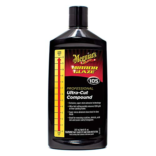 Meguiar's M10508 Mirror Glaze Ultra-Cut Compound, 8 Fluid Ounces, 1 Pack