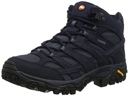 Merrell Moab 2 Smooth Mid GTX, Chaussures de Randonnée Hautes Homme, Bleu (Navy), 42 EU