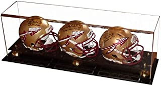 Charlie Ward, Chris Weinke And Jameis Winston Autographed Signed Auto Florida State FSU Seminoles Mini Helmets in Triple Helmet Case Heisman Winners - Certified Authentic