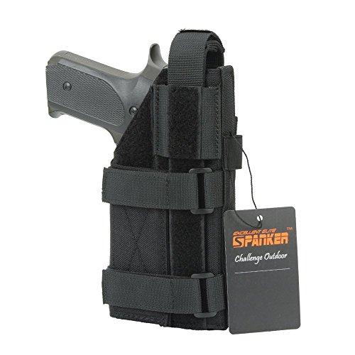 EXCELLENT ELITE SPANKER Taktische verstellbare Pistolenhalfter für M1911 G17 G18 G19 G26 G34 XD-45acp CZ P-10C(Schwarz)