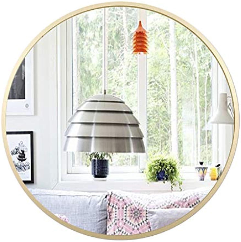 Runde Wand Bad Spiegel Eisenrahmen Wohnzimmer Schlafzimmer Wand Make-Up Groe Eitelkeit Rasieren Moderne Dekorieren Waschrume Eingnge (30 cm - 80 cm)