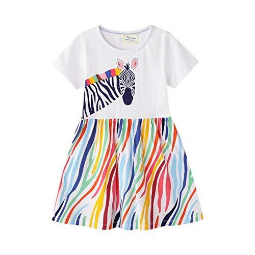 Vestito Bimba Cotone Organico Abito Bimba, Vestito T-Shirt Bimba Stright Bambine Principessa Festa...