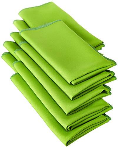 LA Linen 10-Pack Polyester Poplin Napkins, 18 by 18-Inch, Lime