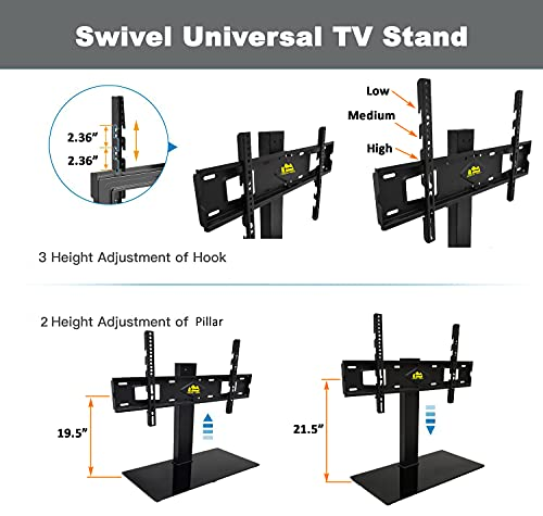 FORGING MOUNT Swivel Univerial TV Stand Table Top TV Base for 37-70