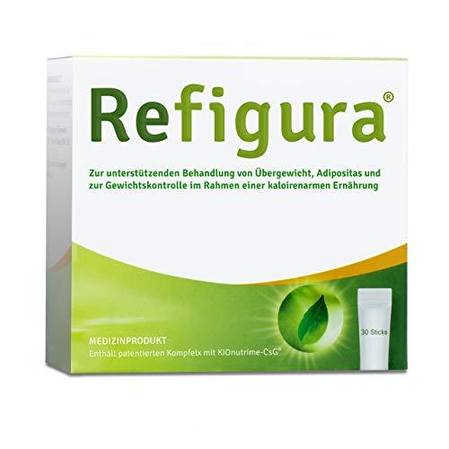 Refigura: Appetitzügler zum Abnehmen/zur Gewichtskontrolle, pflanzlich, vegan & bio, Pulver als Sticks, 30 Stk.
