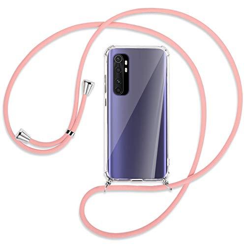 mtb more energy® Collar Smartphone para Xiaomi Mi Note 10 Lite (6.47'') - Rosa - Funda Protectora ponible - Carcasa Anti Shock con Correa para Hombro