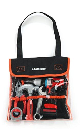 Smoby–500281–Spiel 701812613150Werkzeug und Werkbank–Black + Decker Tasche von Mosaiken