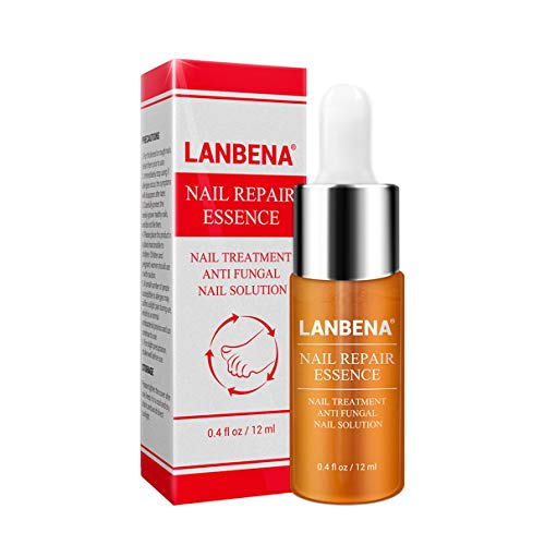 LANBENA Esencia de reparación de uñas Suero Tratamiento de hongos Eliminación de uñas Onicomicosis Toe Resplandor de uñas Cuidado nutritivo de manos y pies (Transparente) (Togames)