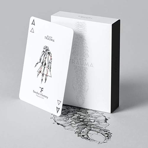SOLOMAGIA Black Trauma White Edition Playing Cards