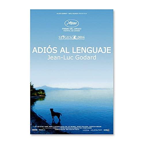 NCCDY Póster de cine 'Adiós a la lengua' en lienzo para pared y póster moderno para decoración de dormitorio familiar de 30 x 45 cm