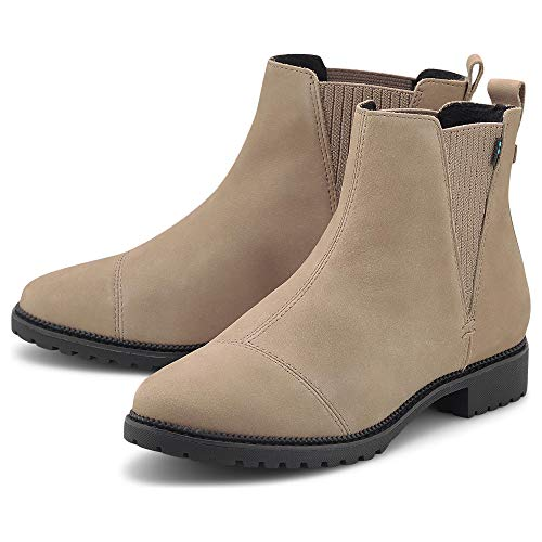 TOMS - Womens Cleo Boots, Size: 7 B(M) US, Color: Wr Taupe Gray Oiled Nubuck
