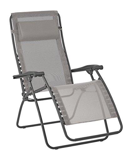 Lafuma Relax-ligstoel, inklapbaar en verstelbaar, RSXA Clip, Batyline Batyline 88x68x115 cm grijs