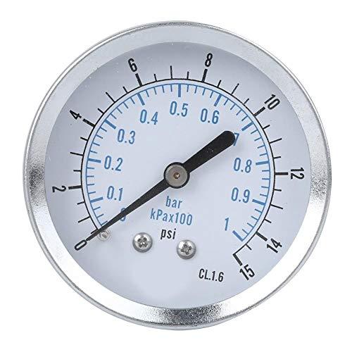 Vikye Manometer, Maschinen Y60 Professionelles Axialmanometer Manometer TS-Y60Z4-15psi 1/4NPT Haushaltsdruckmessung