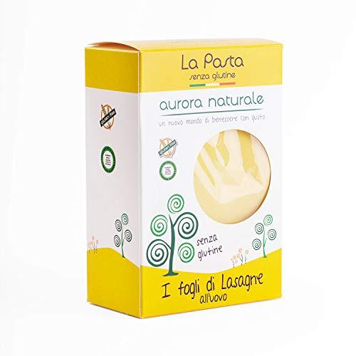 Aurora Naturale Un nuovo mondo di benessere con gusto I Fogli di Lasagne all'Uovo - 3 Confezioni da 160 g, Senza glutine