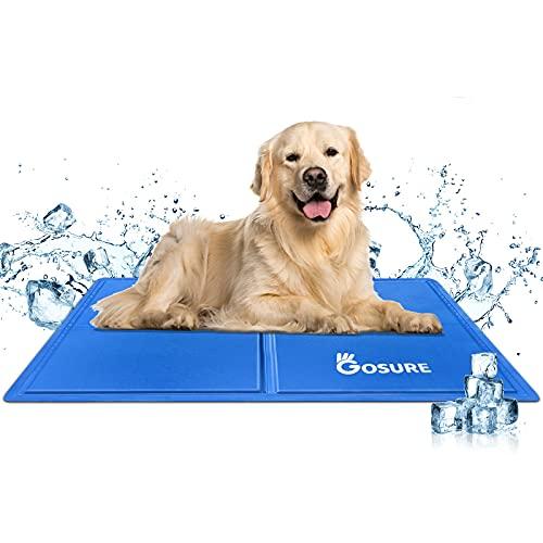 Haustier Kühlmatte,Haustierkühlmatte,Haustier Eismatte Selbstkühlende Matte, kühlendes Kissen für Hunde und Katzen kühlende Decke Pad für Kisten, Hundehütten Betten,Reisen und zuHause (M(50*65cm))
