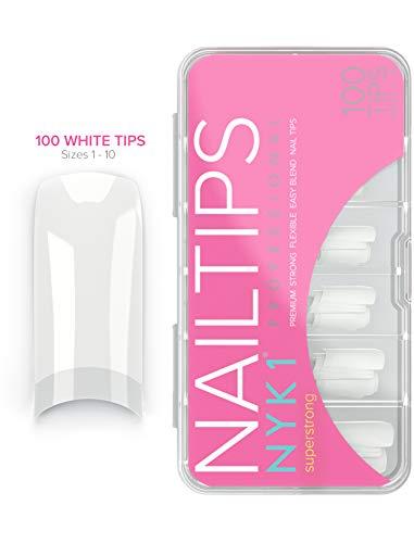 NYK1Kunstnägel, Natural oder French White, künstliche Nagelspitzen aus Acryl, für alle Nagelgelsysteme geeignet