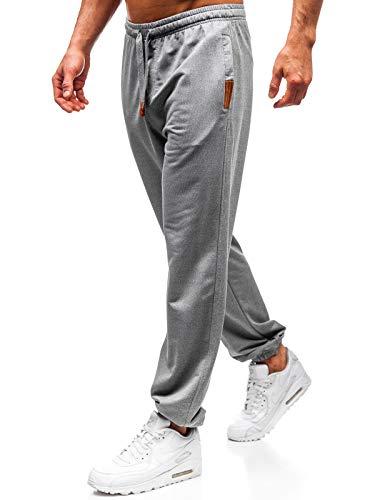 BOLF Herren Sporthose Trainingshose Jogger Sportlicher Stil CRWS DNM Q5009 Grau L [6F6]