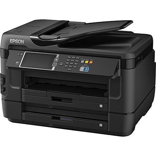 Epson WorkForce 7620 Inkjet Multifunction Printer - Color - Photo Print - Desktop - Copier/Fax/Printer/Scanner - 32 ppm Mono/20 ppm Color Print - 18 ppm Mono/10 ppm Color Print (ISO) - 18 ipm Mono/10 ipm Color Print (ISO) - 48 Second Photo - 4800 x 2400 dpi Print - 32 cpm Mono/20 cpm Color Copy - Touchscreen LCD - 1200 dpi Optical Scan - Automatic Duplex Print - 500 sheets Input - Fast Ethernet - Wireless LAN - USB - C11CC97201