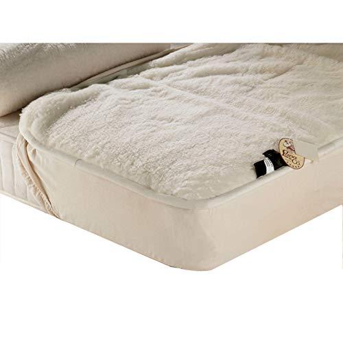 Lana & Co Merinos matrasbeschermer, effen, zomer, winter, met elastische band