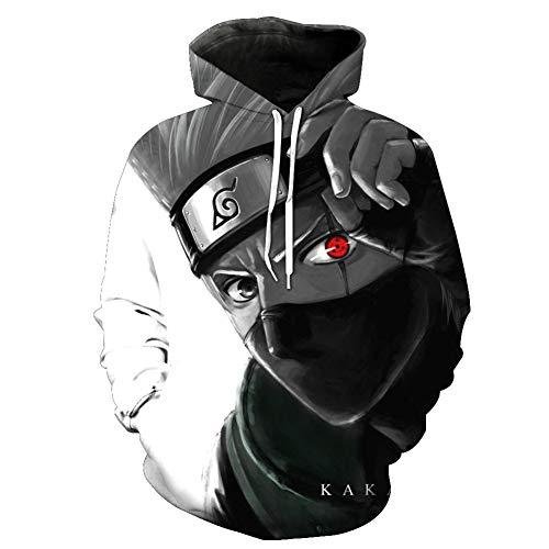 Duoyi EU Unisex 3D Naruto Kapuzenpullover Hoodie Cartoon Anime Hatake Kakashi Cosplay Kostüm Pullover Sweatshirt Hatake Kakashi Small