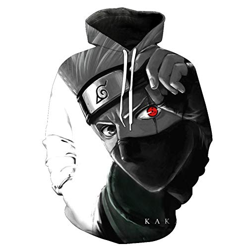 Duoyi EU Unisex 3D Naruto Kapuzenpullover Hoodie Cartoon Anime Hatake Kakashi Cosplay Kostüm Pullover Sweatshirt Hatake Kakashi Medium