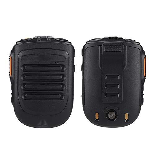 Zello Walkie Talkie Micrófono de Altavoz de Mano inalámbrico Bluetooth, Micrófono de Mano PTT de Radio bidireccional con Conector de Auriculares Universal de 3,5 mm