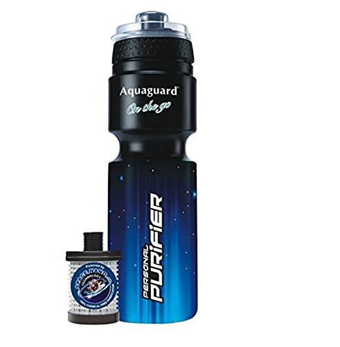 Eureka Forbes Aquaguard Personal Purifier Bottle, Black