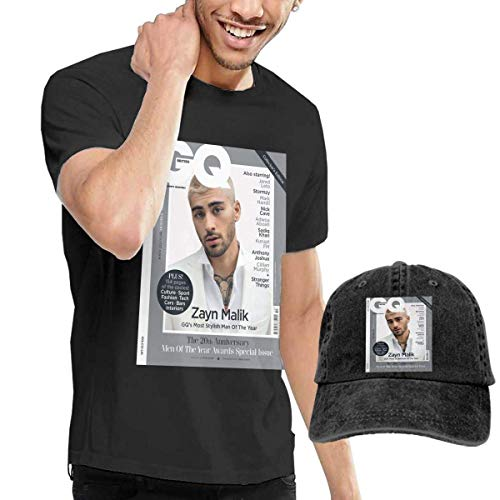 Baostic Herren Kurzarmshirt Men's Black Short Sleeve Shirts, Zayn Icarus Falls Malik Casual T Shirt + Baseball Cap