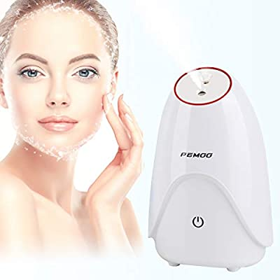 Facial Steamer, 3-in-1 Nano Ionic Facial Steamer Professional Facial with Hot and Cold Mist Humidifier, face steamer for facial 30 Min Steam, facial steamer for face - Unclogs Pores by PEMOO