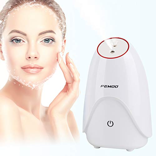 Facial Steamer, 3-in-1 Nano Ionic Facial Steamer Professional Facial with Hot and Cold Mist Humidifier, face steamer for facial 30 Min Steam, facial steamer for face - Unclogs Pores