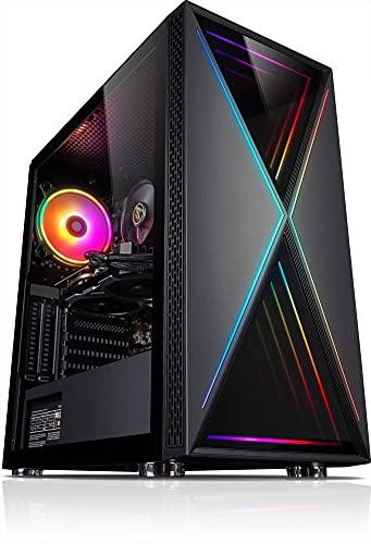 Kiebel Ordenador de videojuegos Speed v10 Intel i7 10700F 8 x 2,9 GHz, 16 GB DDR4, 1000 GB SSD, NVIDIA Geforce RTX 2070, 8 GB, para juegos de videojuegos [184291]