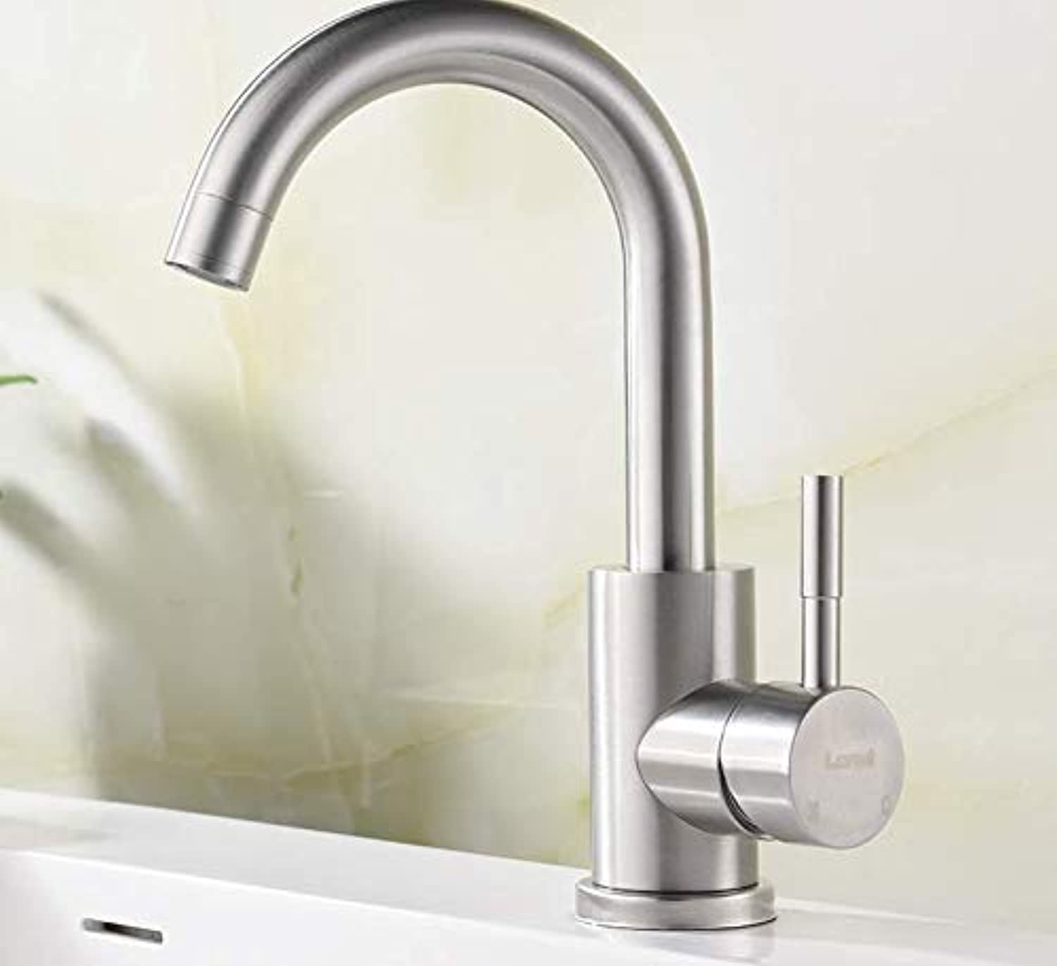 304 Stainless Steel Bathroom hot and Cold Faucet Basin Mixer Faucet Faucet