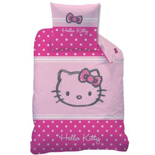CTI 041070 Ropa de Cama Hello Kitty Lola, Franela de Algodón, 135 x 200 Y 80 x 80 cm