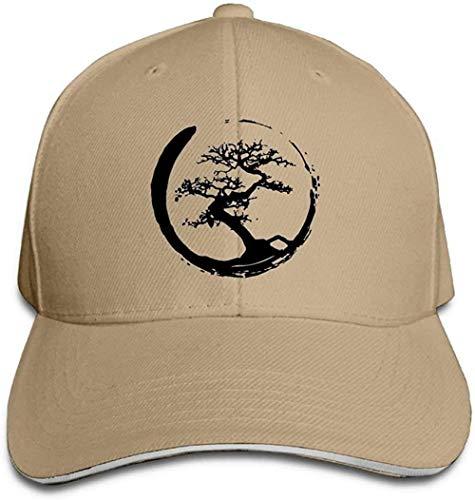 ZYZYY Berretto da baseball unisex Zen Bonsai Tree in Enso Circle Snapback Cappello regolabile con visiera