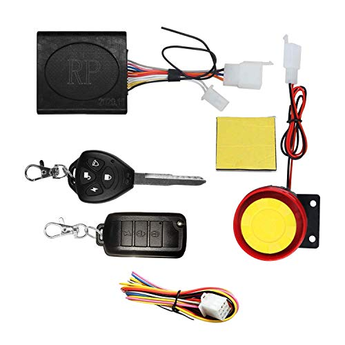 Ascension® Button Remote Key Anti-Theft Security System Motorcycle/Bike Alarm with Dual Remote Control Engine Start for Motorcycle Motorbike Scooter for Scooty Streak