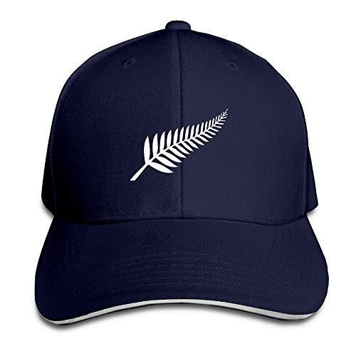Zcfhike Nueva Zelanda Maori Helecho Lindo Ajustable Picos de algodón Sombreros Navy Design27